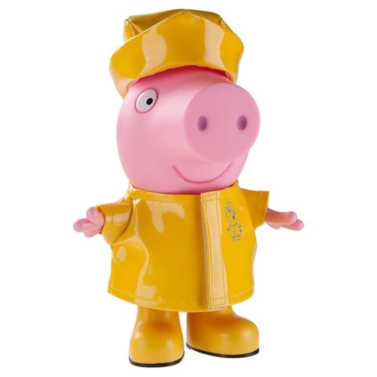 Большая Свинка Пеппа в дождевике 22см