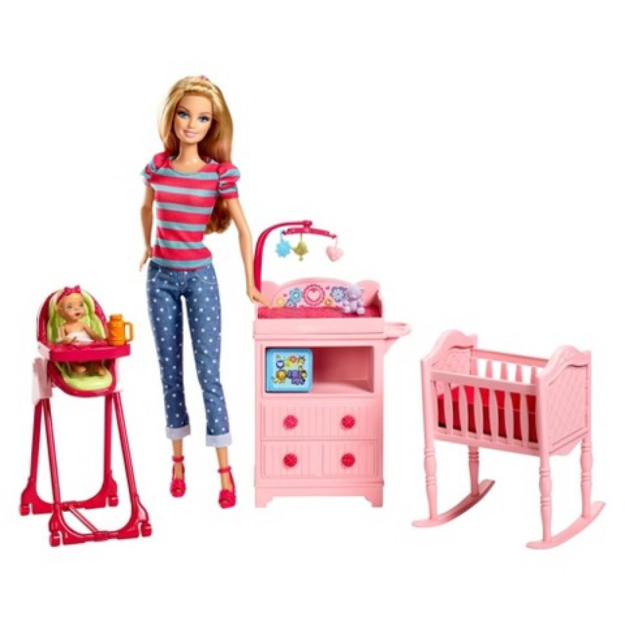 c2901a2f8 Набор кукла Барби с ребенком и аксессуарами