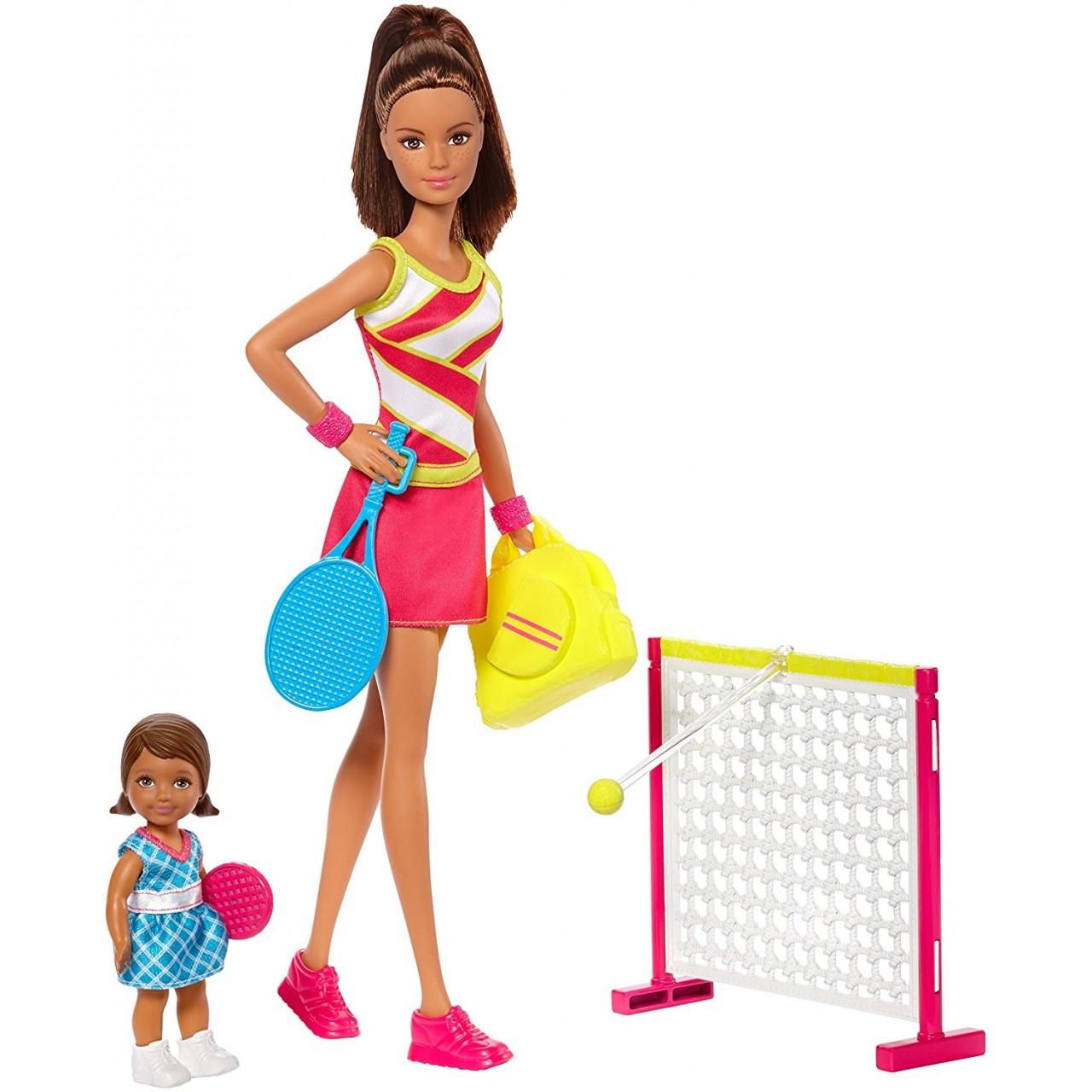 Лялька Барбі тренер з тенісу з аксесуарами DVG15