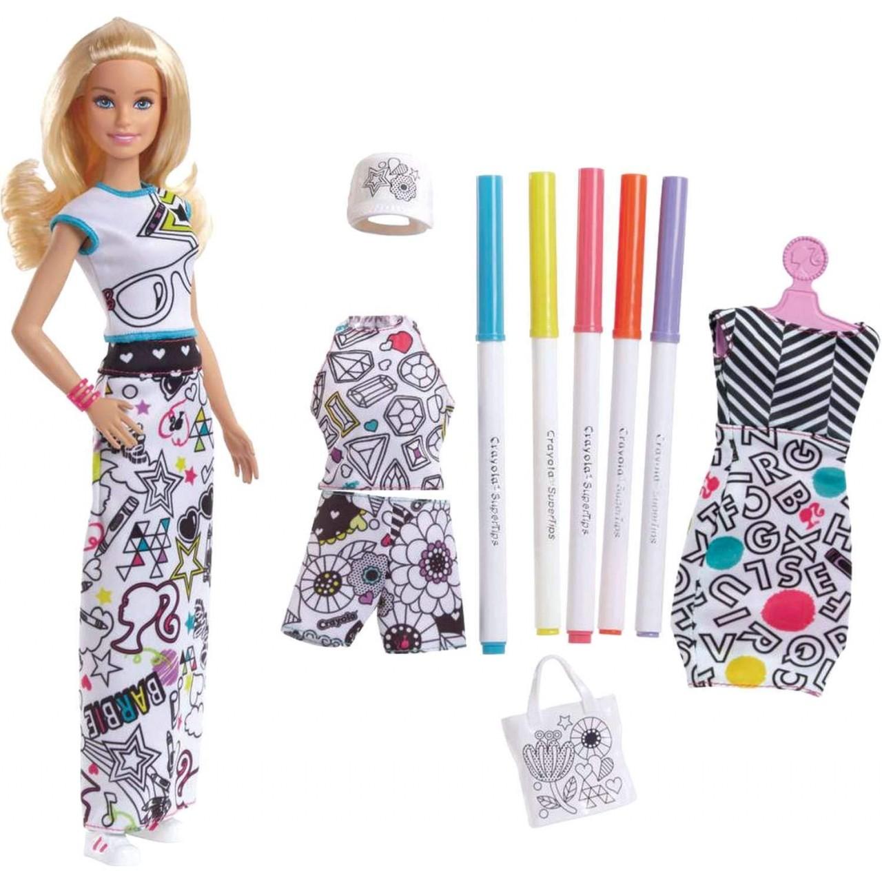 Набор кукла Barbie Crayola Раскраска одежды (FPH90)
