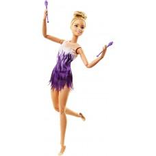"""Кукла Барби блондинка FJB19 серия """"Двигайся как я - Гимнастка"""""""