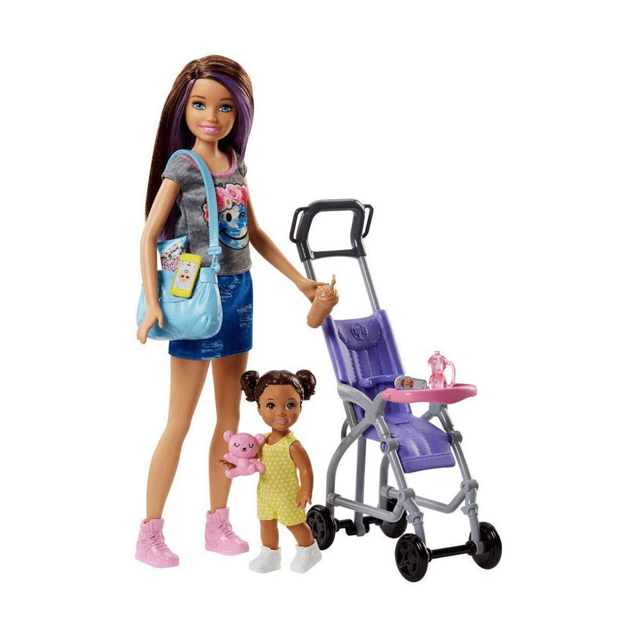 Набор Барби Скиппер няня на прогулке (FJB00) Barbie Skipper Babysitters