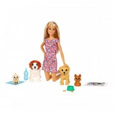 Набор кукла Барби блондинка Щенячий детский сад (FXH08)