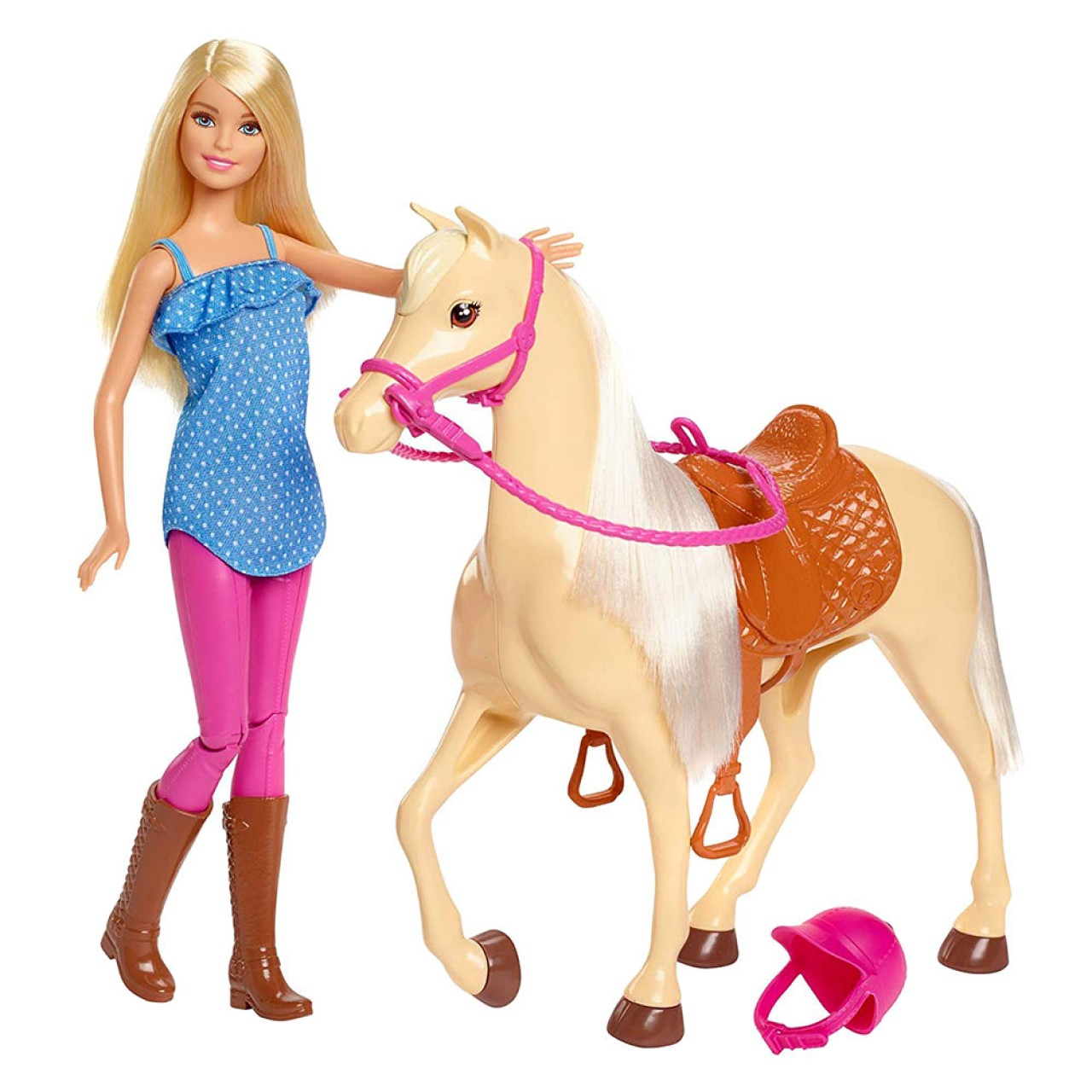 Игровой набор Barbie Верховая езда (FXH13) Barbie Doll & Horse