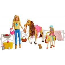 Игровой набор кукла Барби и Челси Верховая езда и объятия (FXH15) Mattel Barbie Hugs N Horses Playset