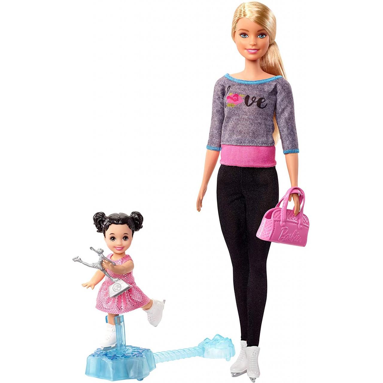 Набор кукла Барби тренер по фигурному катанию FXP38 (Barbie Ice Skating Coach Doll)