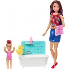 """Набор Барби Скиппер няня """"Ванная комната"""" (FXH05) Barbie Skipper Babysitters Inc. Bathtime Playset"""