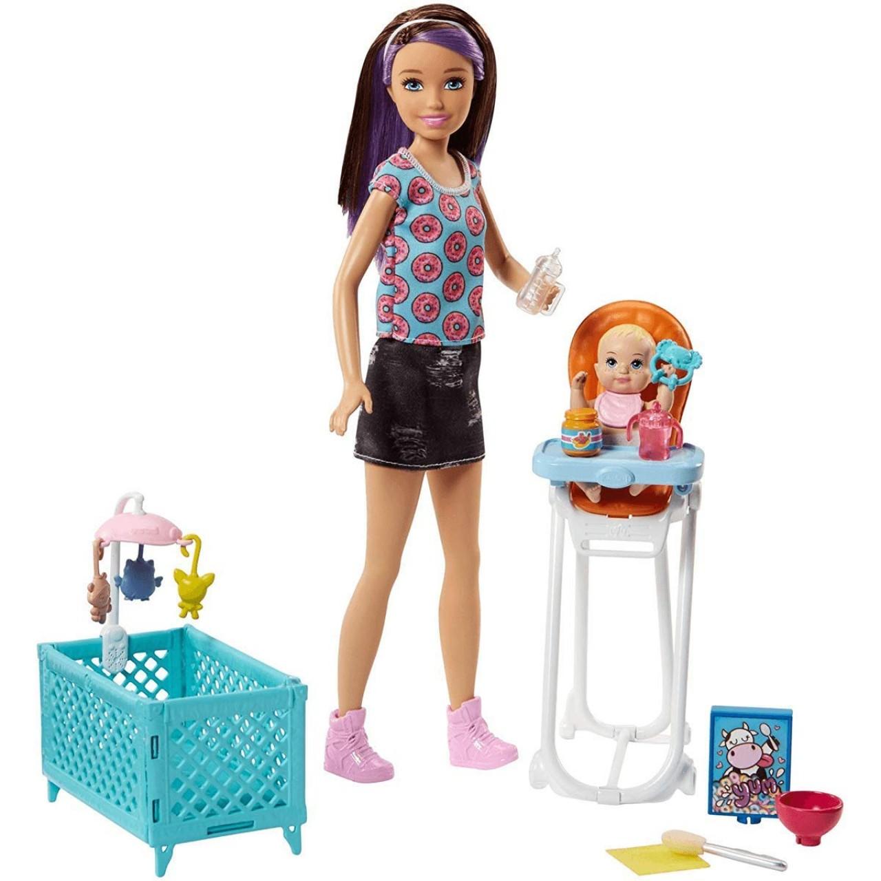 "Набор Барби Скиппер няня ""Кормление"" (FHY98) Barbie Skipper Babysitters Inc. Doll and Feeding Playset"