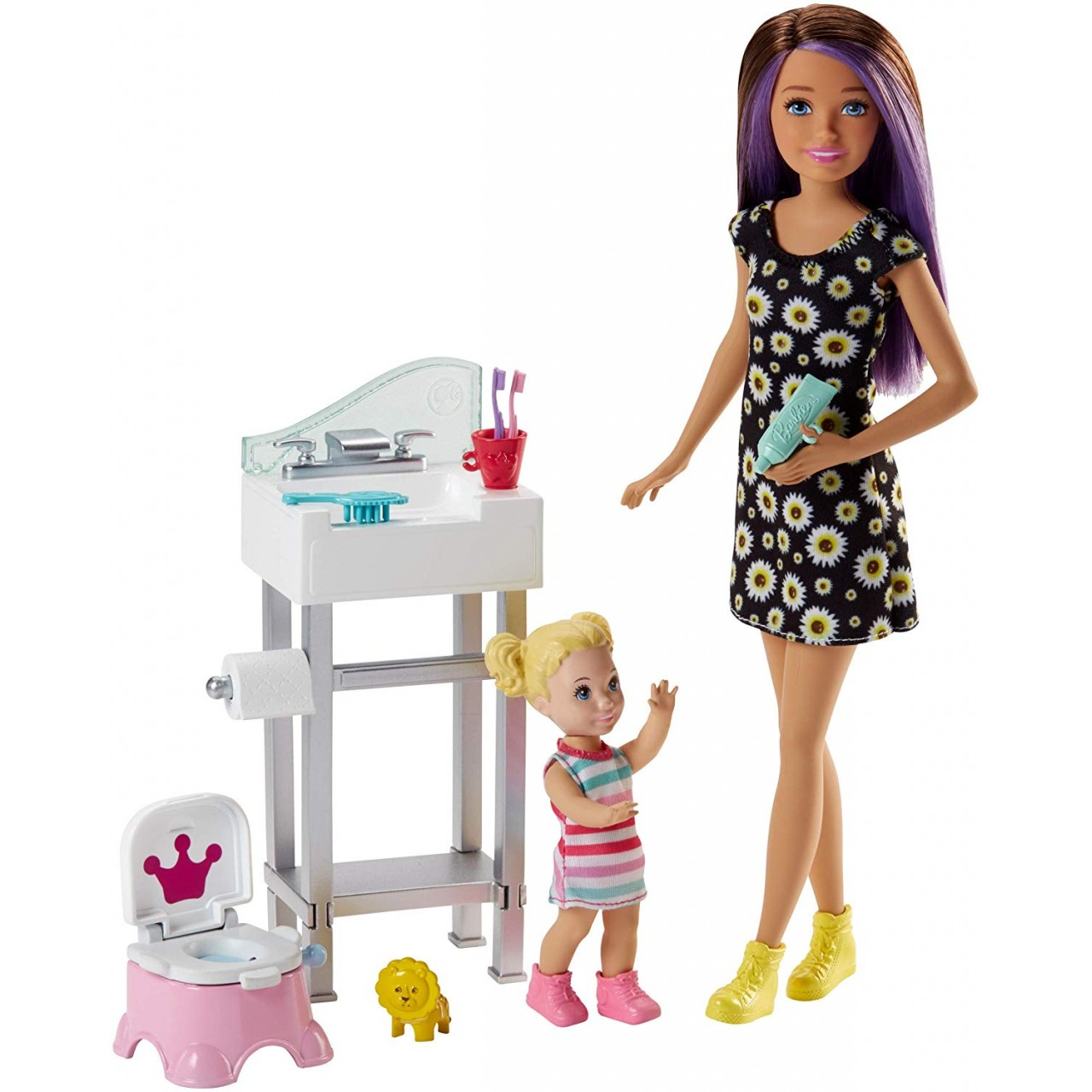 Набор Барби Скиппер няня (FJB01) Barbie Skipper Babysitters Inc. Potty Training Playset