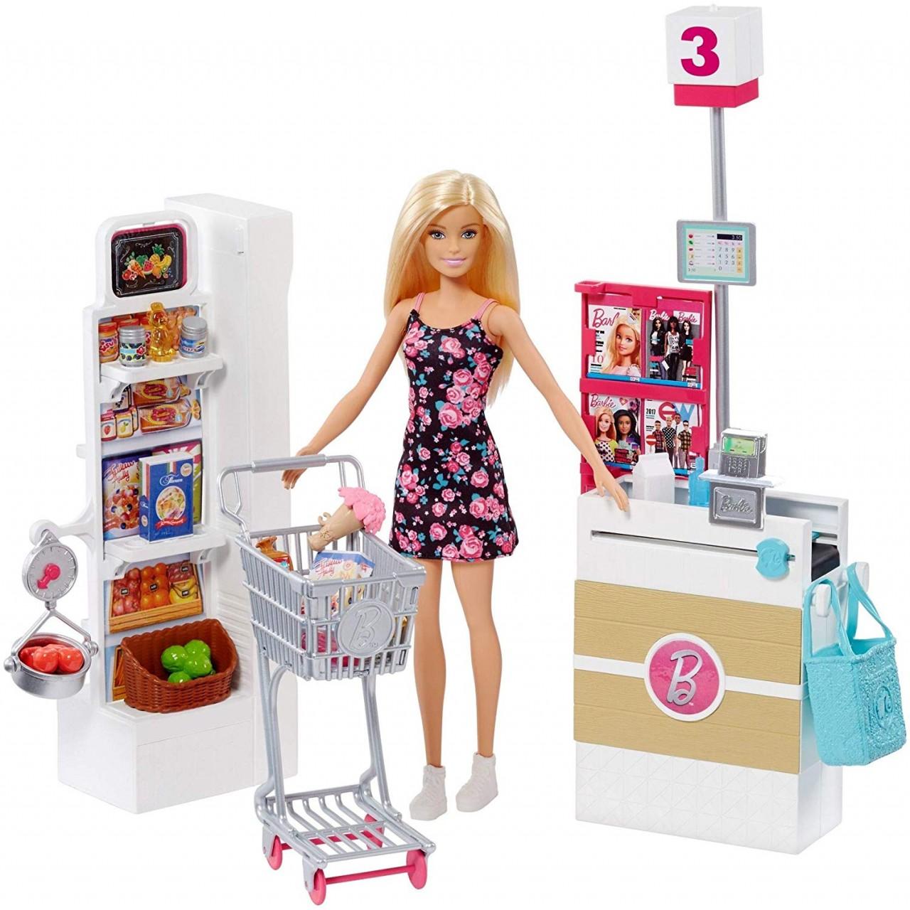 Набір лялька Барбі в Супермаркеті FRP01
