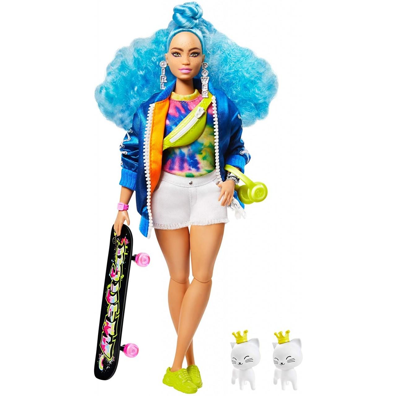 Лялька Barbie Extra з блакитним кучерявим волоссям (GRN30) від Mattel