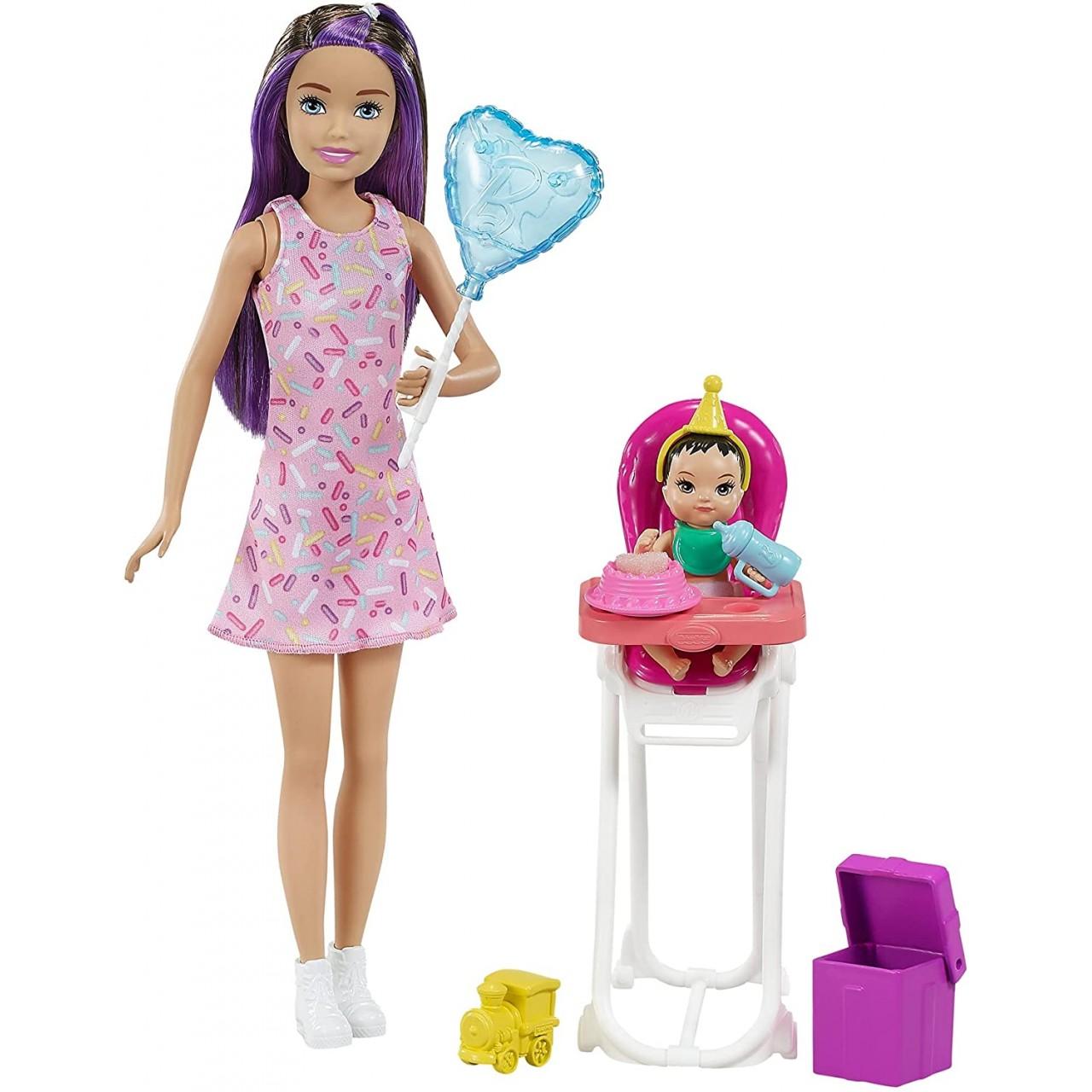 """Набір Барбі Скіппер няня """"Свято День народження"""" (GRP40) від Mattel"""