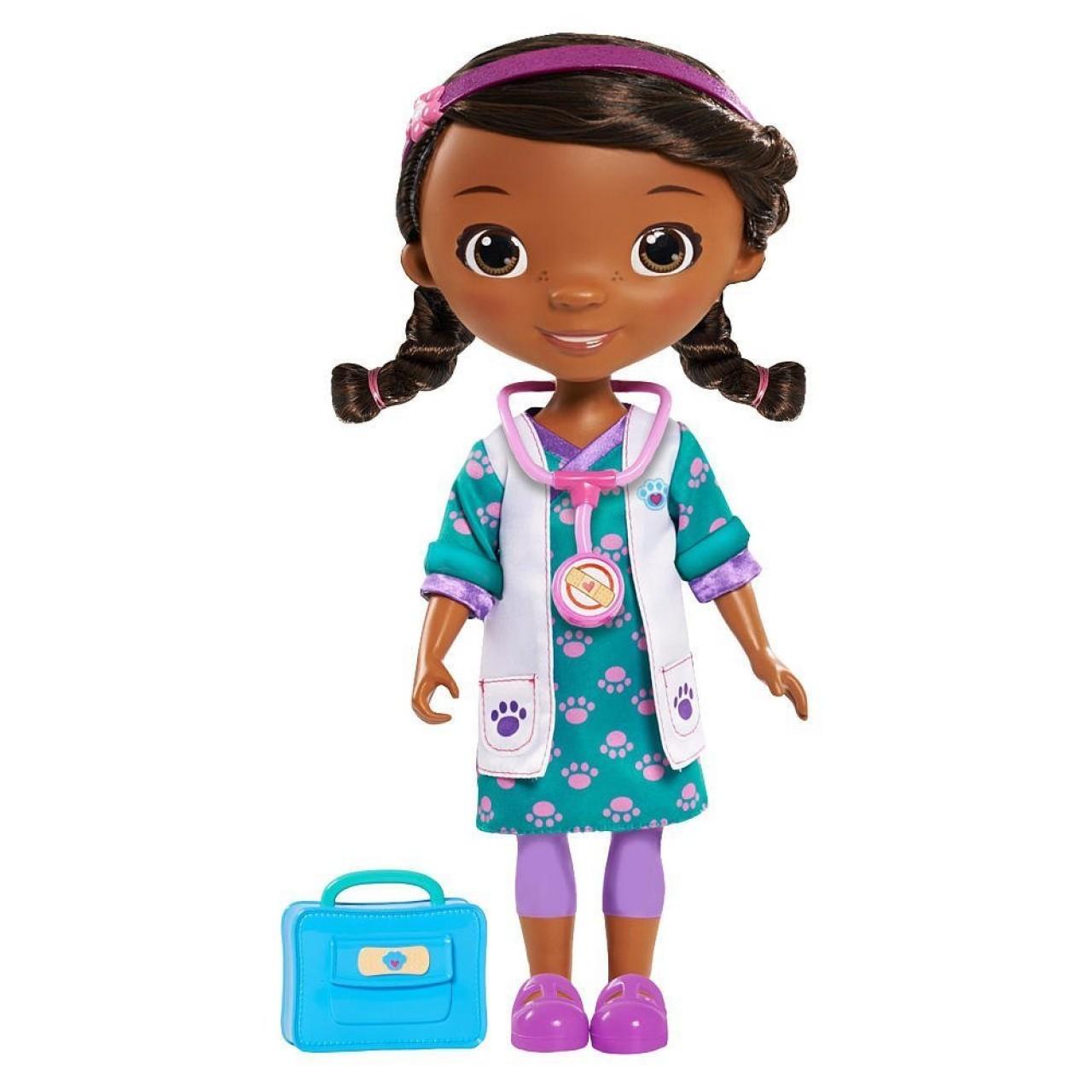 Большая кукла Доктор Плюшева в бирюзовом