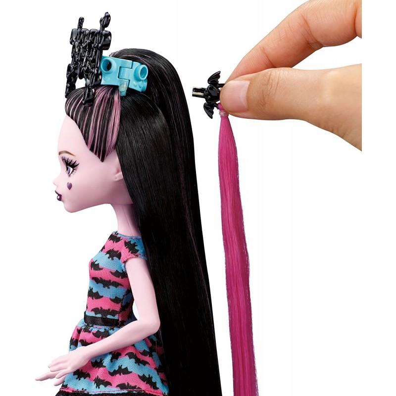 Как перепрошить волосы подделке monster high (ооак: 1 ч.)2 год.