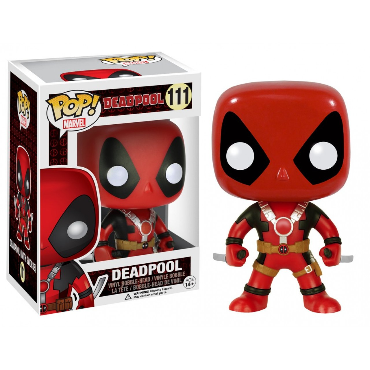 "Фигурка Funko Pop Мстители Марвел: Дэдпул ""Два меча"" (7486)  #111 Marvel Deadpool"