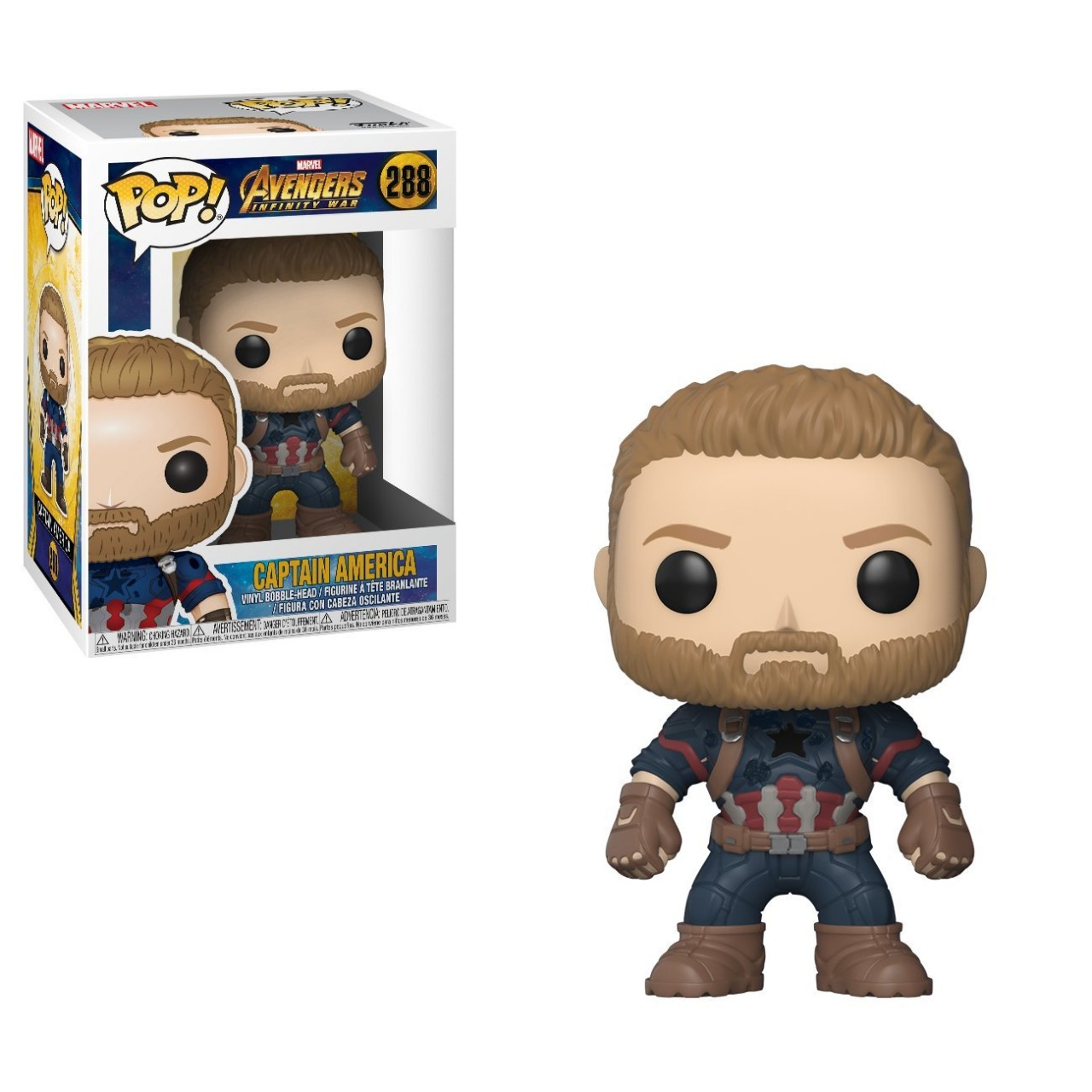 Фигурка Funko Pop Мстители Марвел: Капитан Америка (26466)  #288 Marvel Captain America