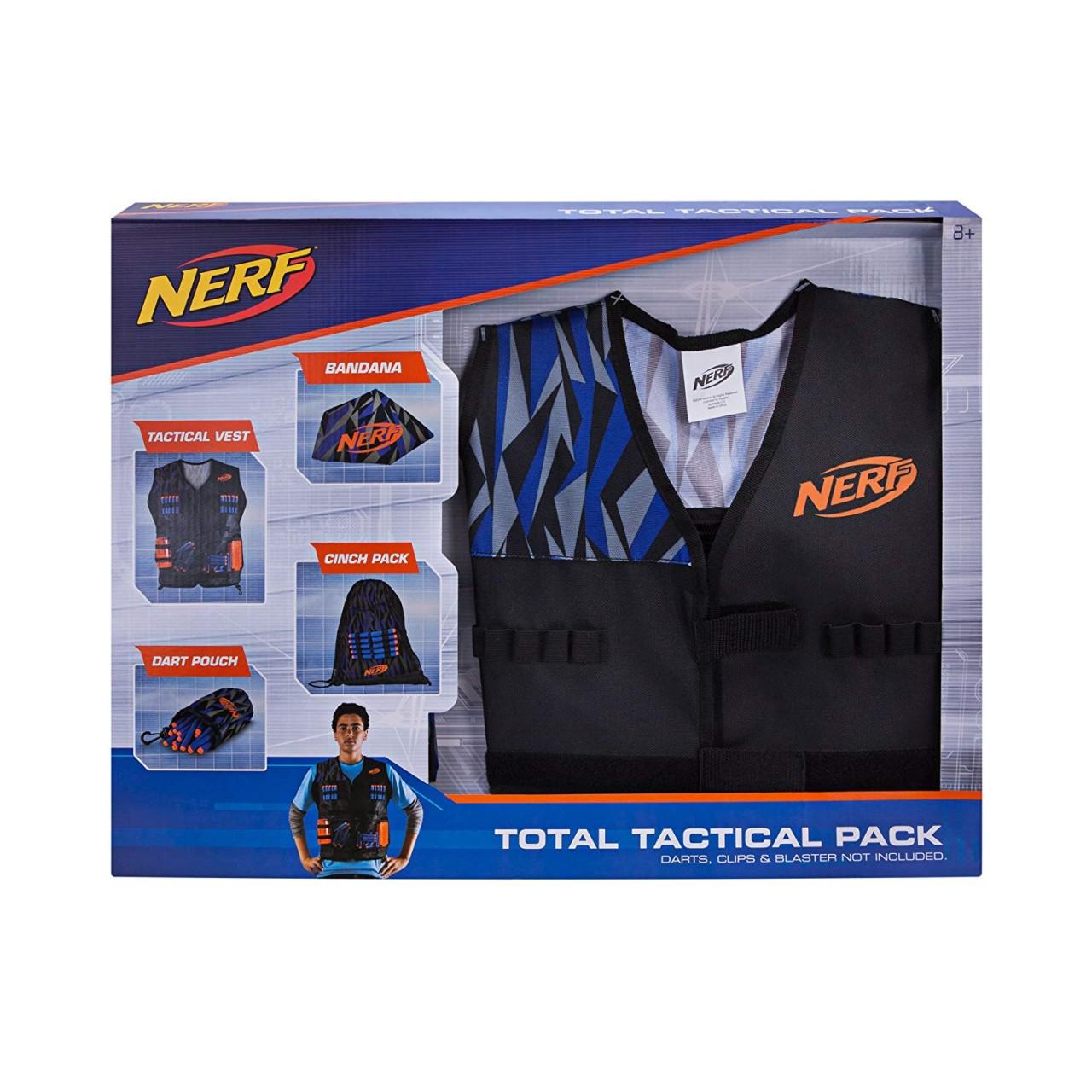 Набор большой жилет агента Nerf и аксессуары - Nerf Elite Total Tactical Pack (A0250)