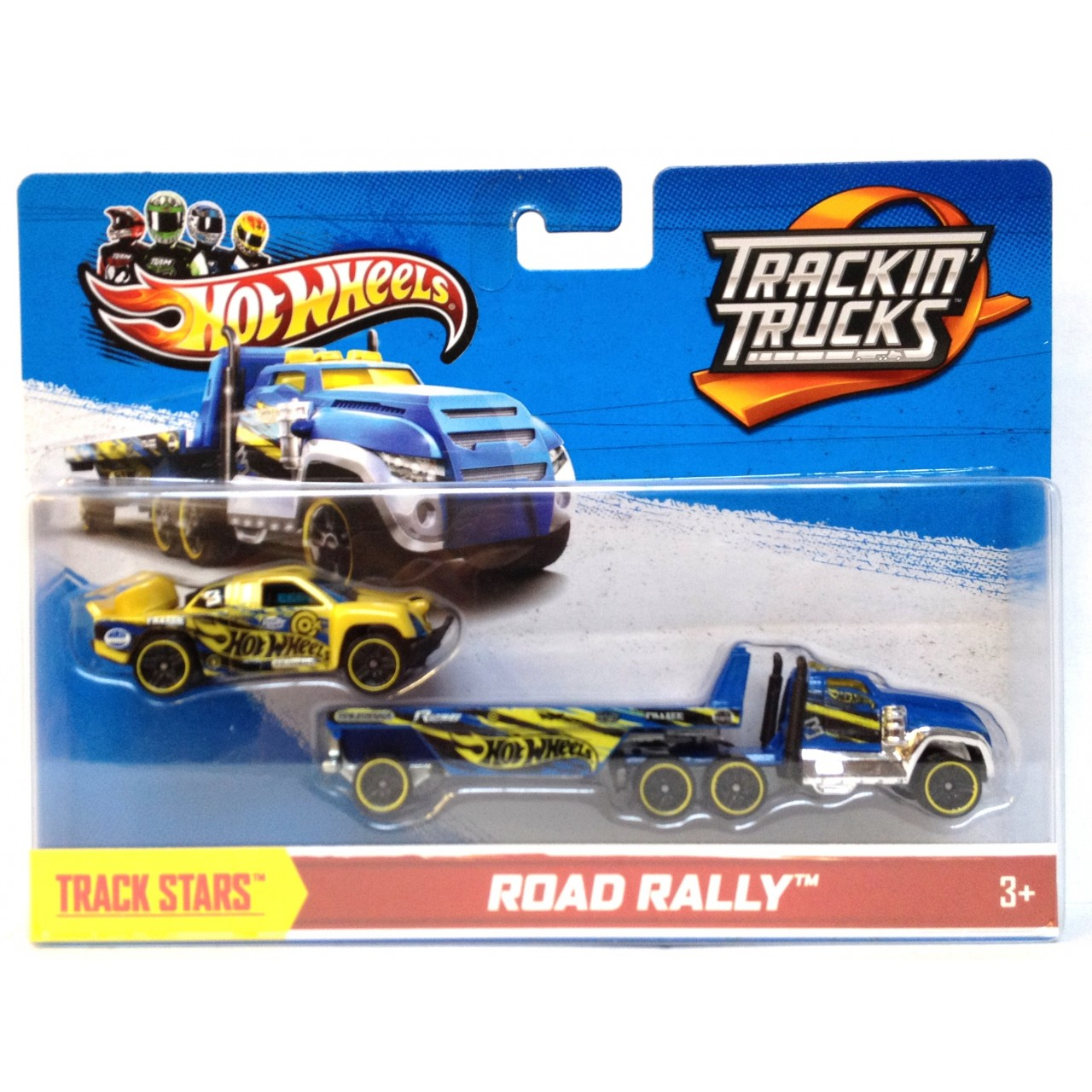 HOT WHEELS машинки Track Trucks Road Rally 2 Vehicle