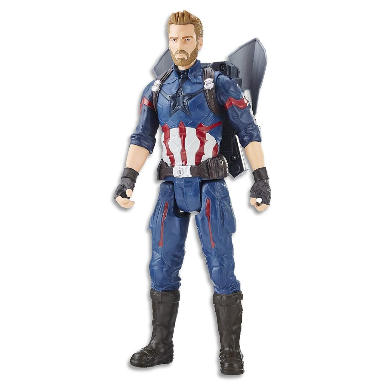 """Интерактивная фигурка Капитан Америка (E0607) """"Мстители: Война бесконечности"""" серия Titan Hero Power FX Port"""