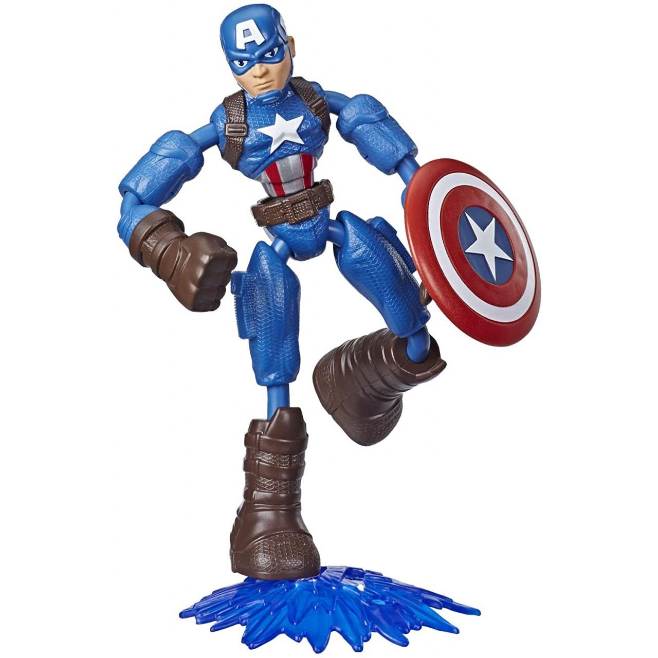 Игровая фигурка Avengers Мстители Бенди Капитан Америка от Hasbro (E7869_E7377)