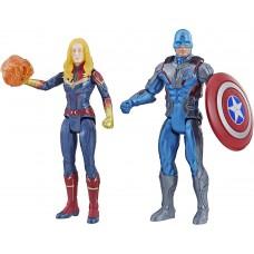 "Фигурка Капитан Америка и Капитан Марвел 15см ""Мстители"" E5084 (Captain America & Captain Marvel)"