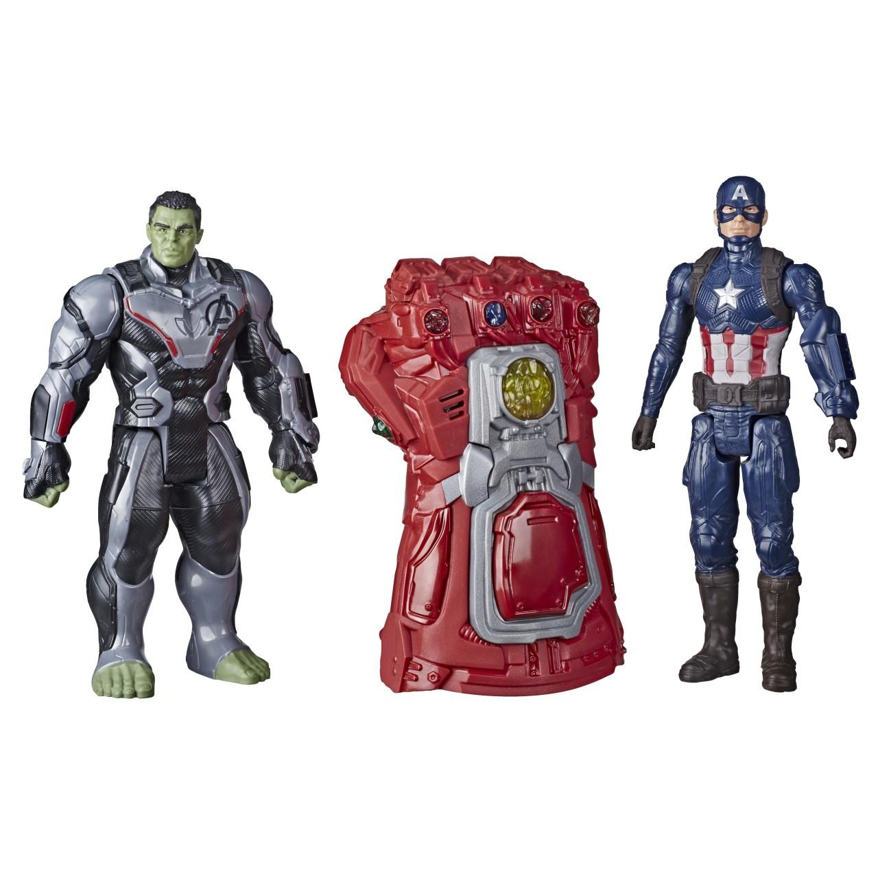 """Интерактивный набор: Халк, Капитан Америка и Рука-Перчатка Бесконечности """"Мстители: Завершение"""" от Hasbro"""