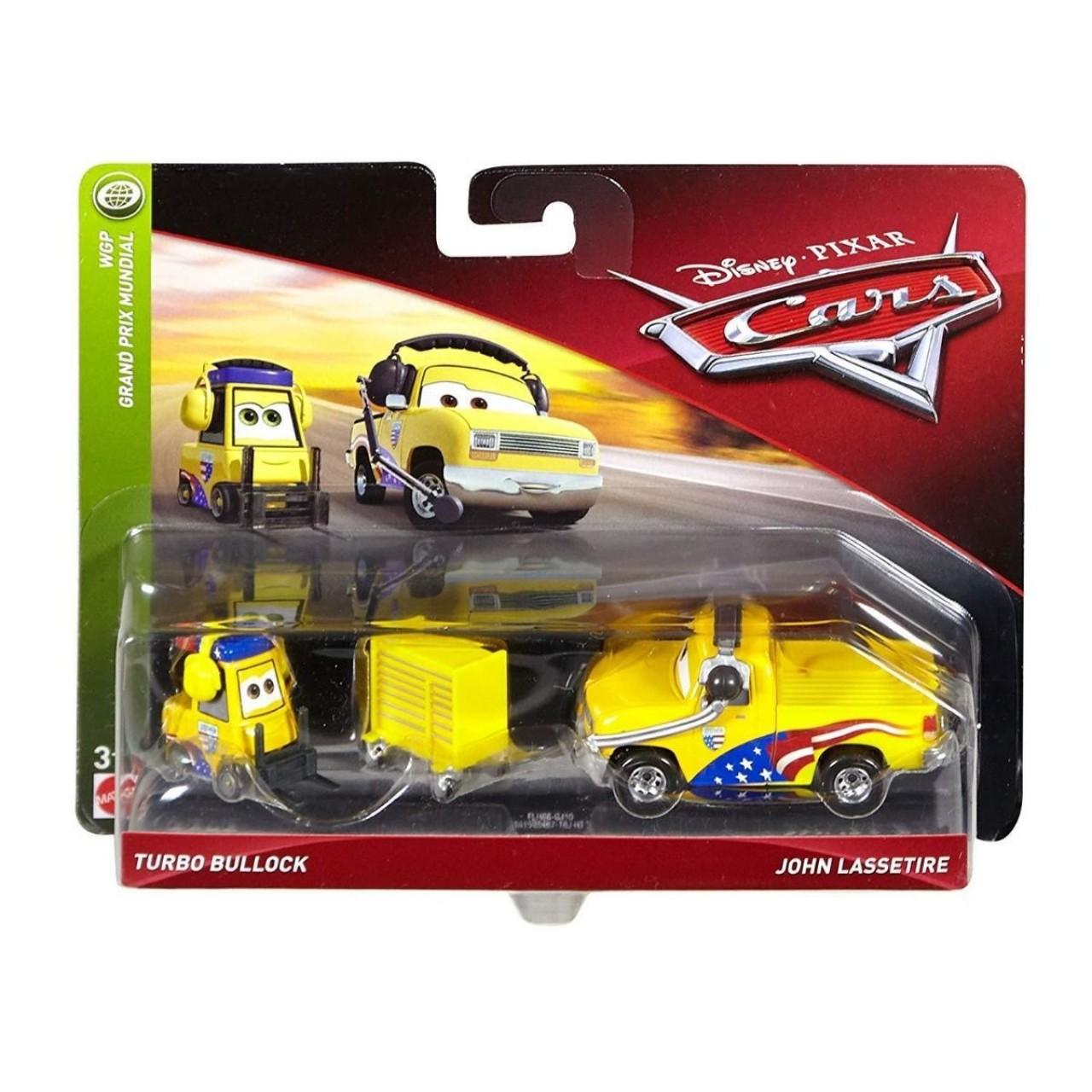 Disney/Pixar Тачки 3: Шеф Джон Ласcетир и Турбо Буллок FLH66 (Cars 3 Turbo Bullock & John Lassetire) от Mattel