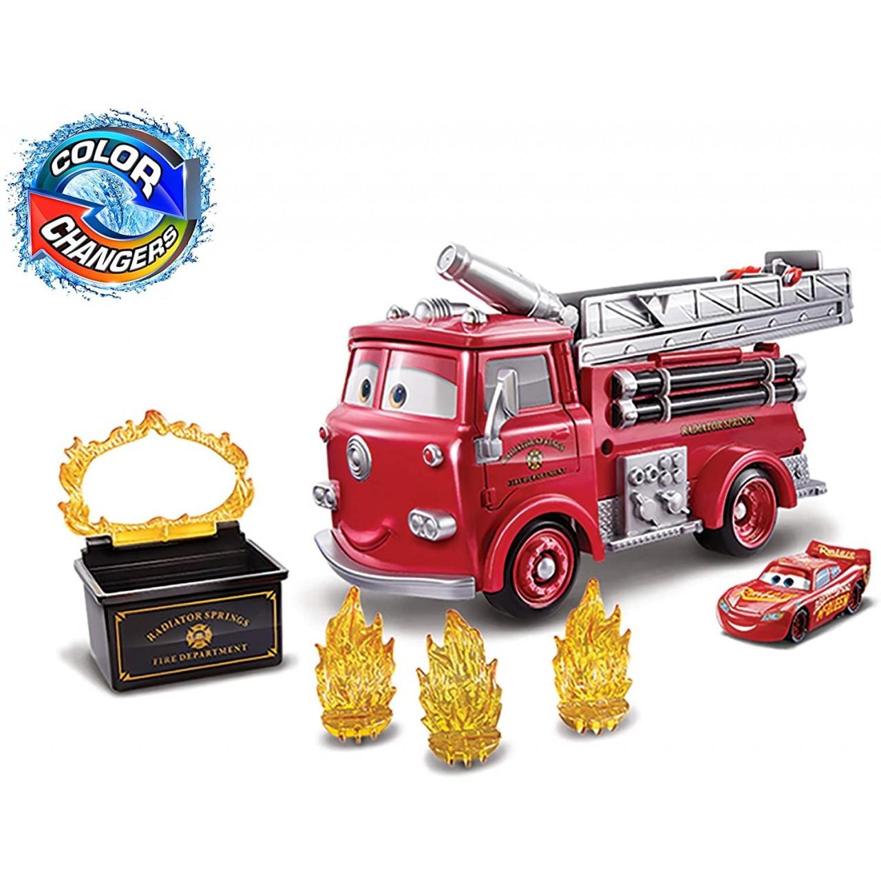 "Набір Тачки 3: Блискавка Маккуїн і Пожежна машина Ред ""Вогняна пастка: міняй колір"" GPH80 Mattel"