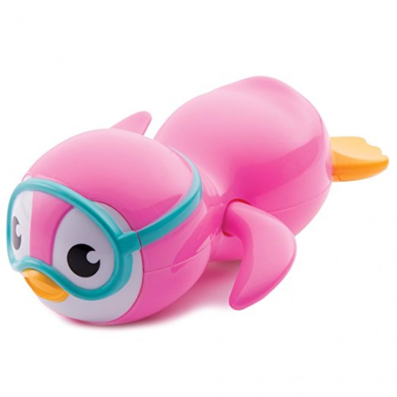 Игрушка для ванной от Munchkin - Пингвин пловец (розовый)
